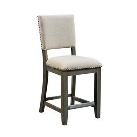 Omaha 2-Pack Upholstered Barstools with Grey Legs