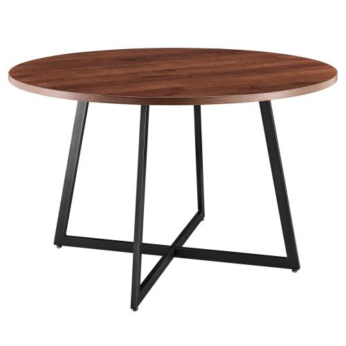 "Courtdale KD 48"" Round Table, Gliese Brown"