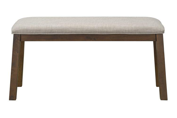 Caswell Dark Brown Dining Bench