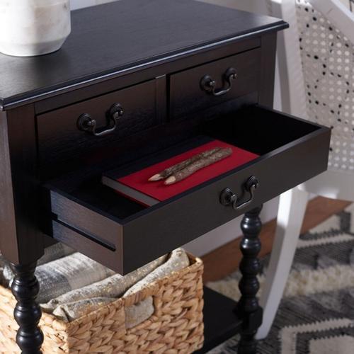 Safavieh - Athena 3 Drawer Console Table - Black