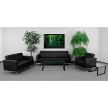 Product Image - HERCULES Lacey Series Reception Set in Black LeatherSoft