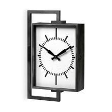 See Details - Hagar Rectangular Large Industrial Wall Clock