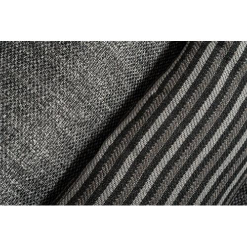 David Ferrari Panorama Italian Modern Grey Fabric & White Leather Sectional Sofa