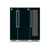 "72"" Column Freezer (L), Refrigerator and Wine Cellar ® Ensemble Refrigeration Suite - Stealth"