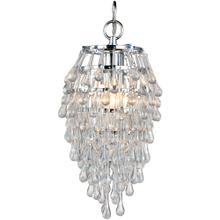 See Details - AF Lighting Crystal Teardrop Mini Chandelier, 4950-1H