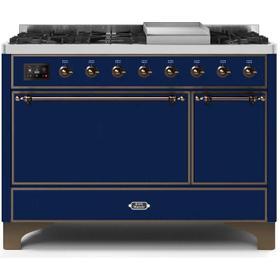 48 Inch Blue Dual Fuel Natural Gas Freestanding Range