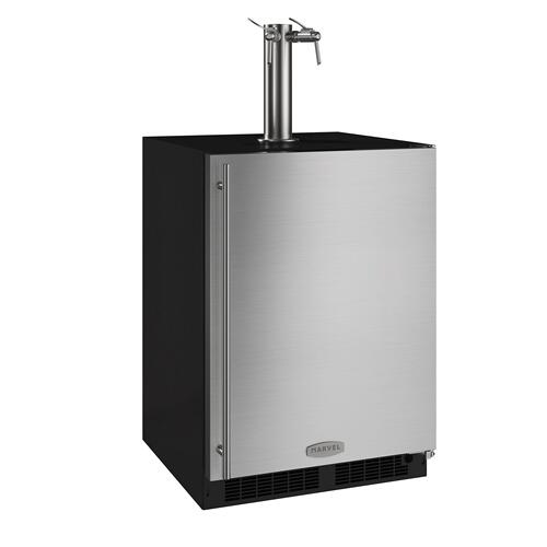 24-In Beverage Dispenser with Door Style - Stainless Steel, Door Swing - Right