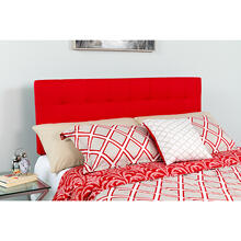 Bedford Tufted Upholstered King Size Headboard in Red Fabric