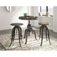 View Product - Sparrow 3 Piece Dining(Adjustable Height Table & 2 Adjustable Height Stools)