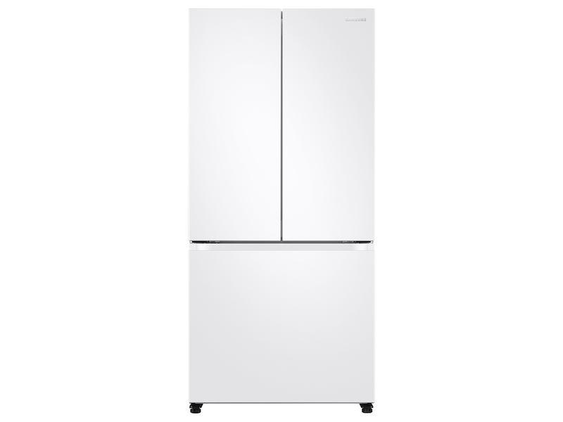 Samsung18 Cu. Ft. Smart Counter Depth 3-Door French Door Refrigerator In White