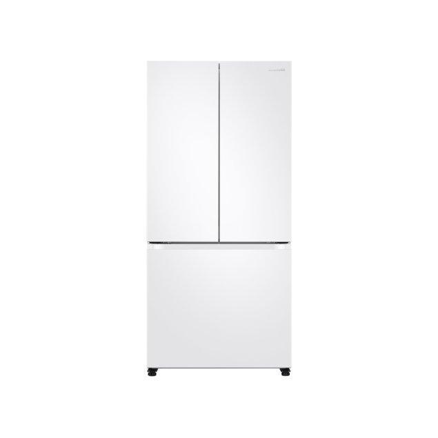 Samsung Appliances 18 cu. ft. Smart Counter Depth 3-Door French Door Refrigerator in White