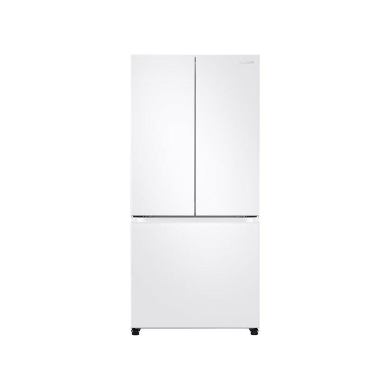 18 cu. ft. Smart Counter Depth 3-Door French Door Refrigerator in White