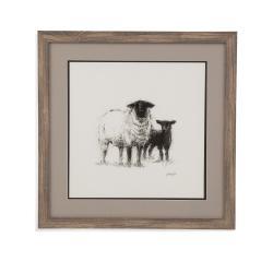 Charcoal Sheep Study II