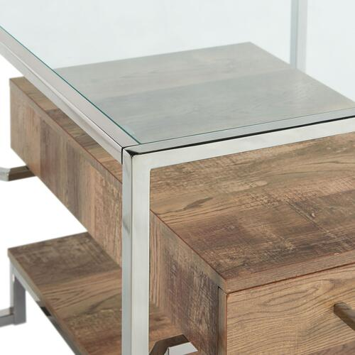 Matrix Square Storage End Table