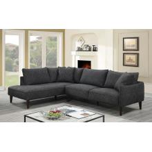 See Details - Asher Charcoal Sectional with LHF Chaise, U5205