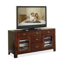 Castlewood TV Console Warm Tobacco finish