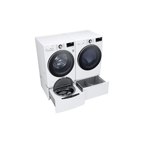 LG - 5.0 cu. ft. Mega Capacity Smart wi-fi Enabled Front Load Washer with TurboWash™ 360° and Built-In Intelligence