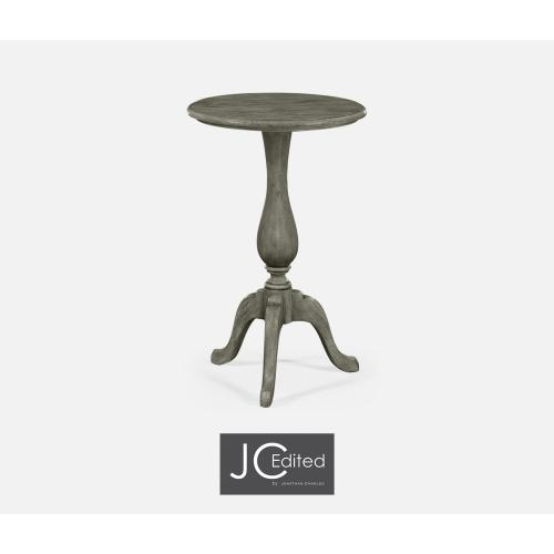 Antique Dark Grey Tall Cocktail Table