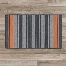 Frazada Stripe Rug FZ29 Charcoal & Orange 2' X 3'
