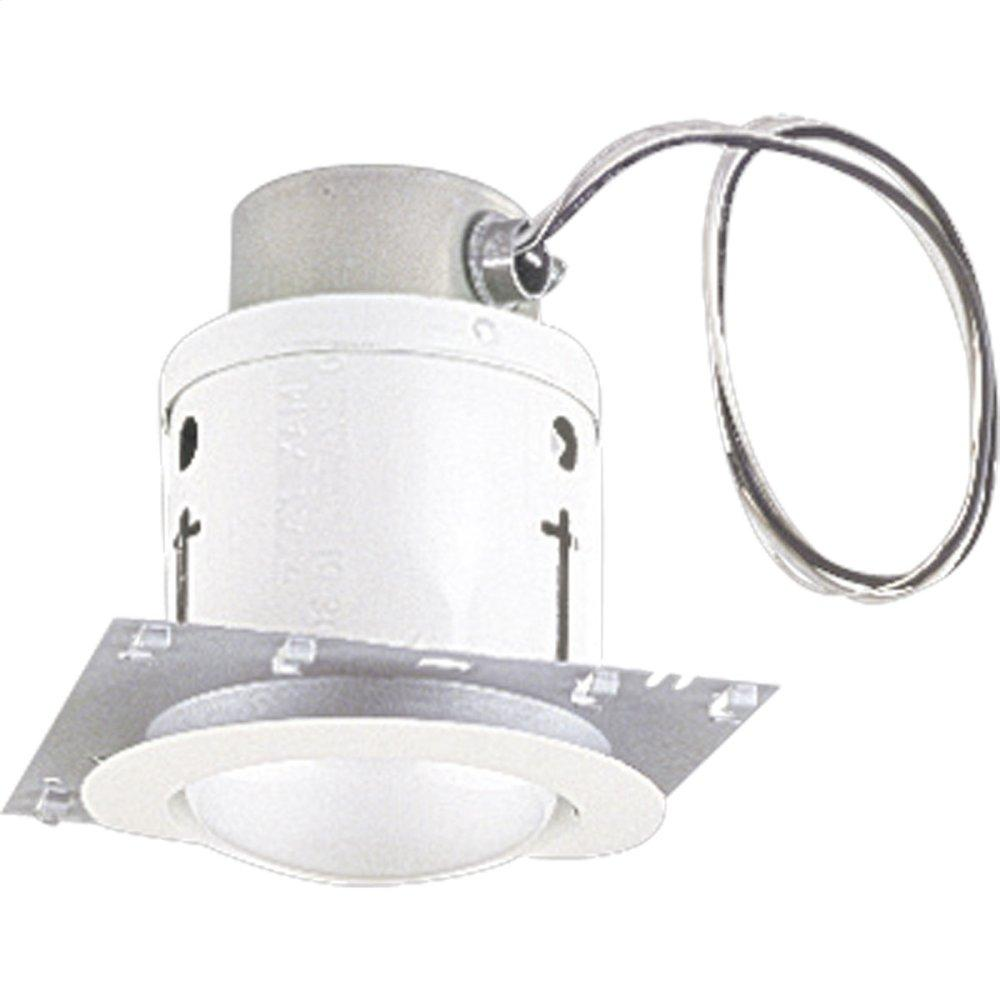 White Progress Lighting P6414-30TG Prewired Complete with Housings and Trim with Flat White Glass Torsion Springs