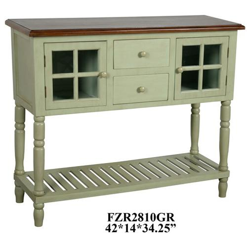 """Product Image - 42x14x34.25"""" TWO DOOR TWO DRAWER CONSOLE,1 PC KD PK/7.42'"""