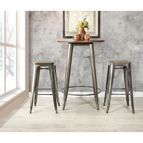 Indio Set With Round Table and 2 Stools