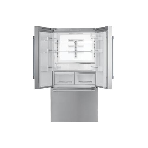 Thermador - Freedom® French Door Bottom Mount Refrigerator 36'' Professional Stainless steel T36FT820NS