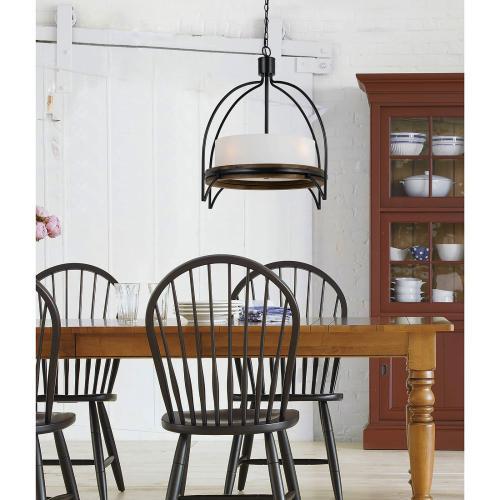 60W X 4 Chardon Metal/Wood Fixture(Edison Bulbs Not included)