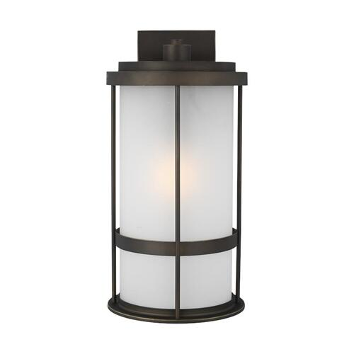 Wilburn Large One Light Outdoor Wall Lantern Antique Bronze
