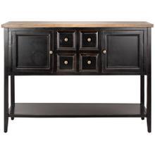 See Details - Charlotte Storage Sideboard - Black / Oak