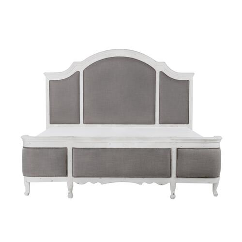 Emerald Home B312-12-k Bordeaux King Bed, Antique White