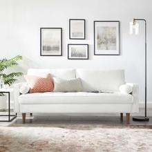 Valour Performance Velvet Sofa in White