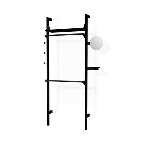 Branch-1 Wardrobe Unit Black Uprights Black Brackets Black Shelves