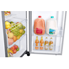 Samsung 22 Cu. Ft. Counter Depth Side-By-Side Refrigerator With Touch Screen Family Hub™ In Stainless Steel