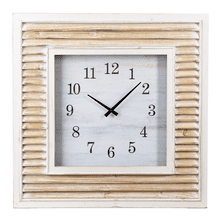 Whitewash Shutter Wall Clock