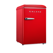 Galanz 2.5 Cu Ft Retro Single Door Refrigerator in Hot Rod Red