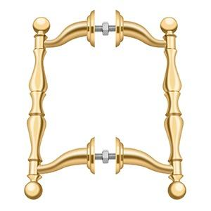 Off-Set Handle Pull, Back-To-Back Set - PVD Polished Brass Product Image