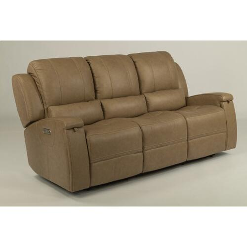 - Oxford Leather Power Reclining Sofa with Power Headrests
