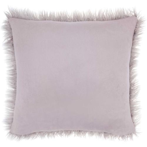 "Faux Fur Bj101 Lavender 17"" X 17"" Throw Pillow"