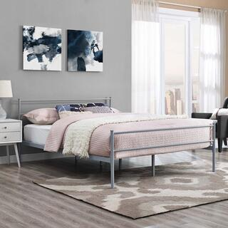 Alina Queen Platform Bed Frame in Gray