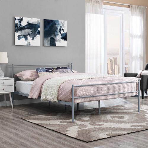 Modway - Alina Queen Platform Bed Frame in Gray