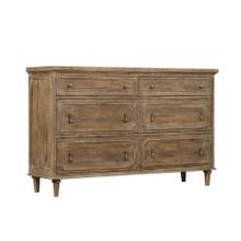 Interlude 6-drawer Dresser, Sandstone Buff B560-01-05