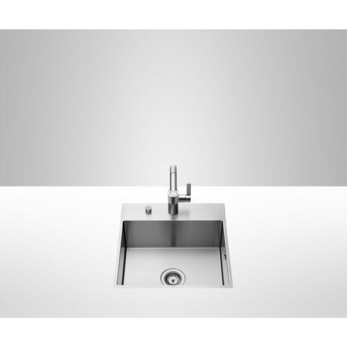 Dornbracht - Single bowl sink with tap hole surface - matte stainless steel