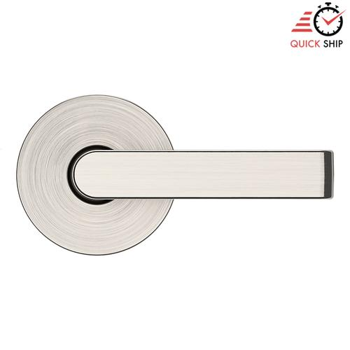 Baldwin - Satin Nickel with Lifetime Finish 5105 Estate Lever with 5046 Rose