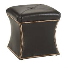 Hourglass Ottoman (Leather)