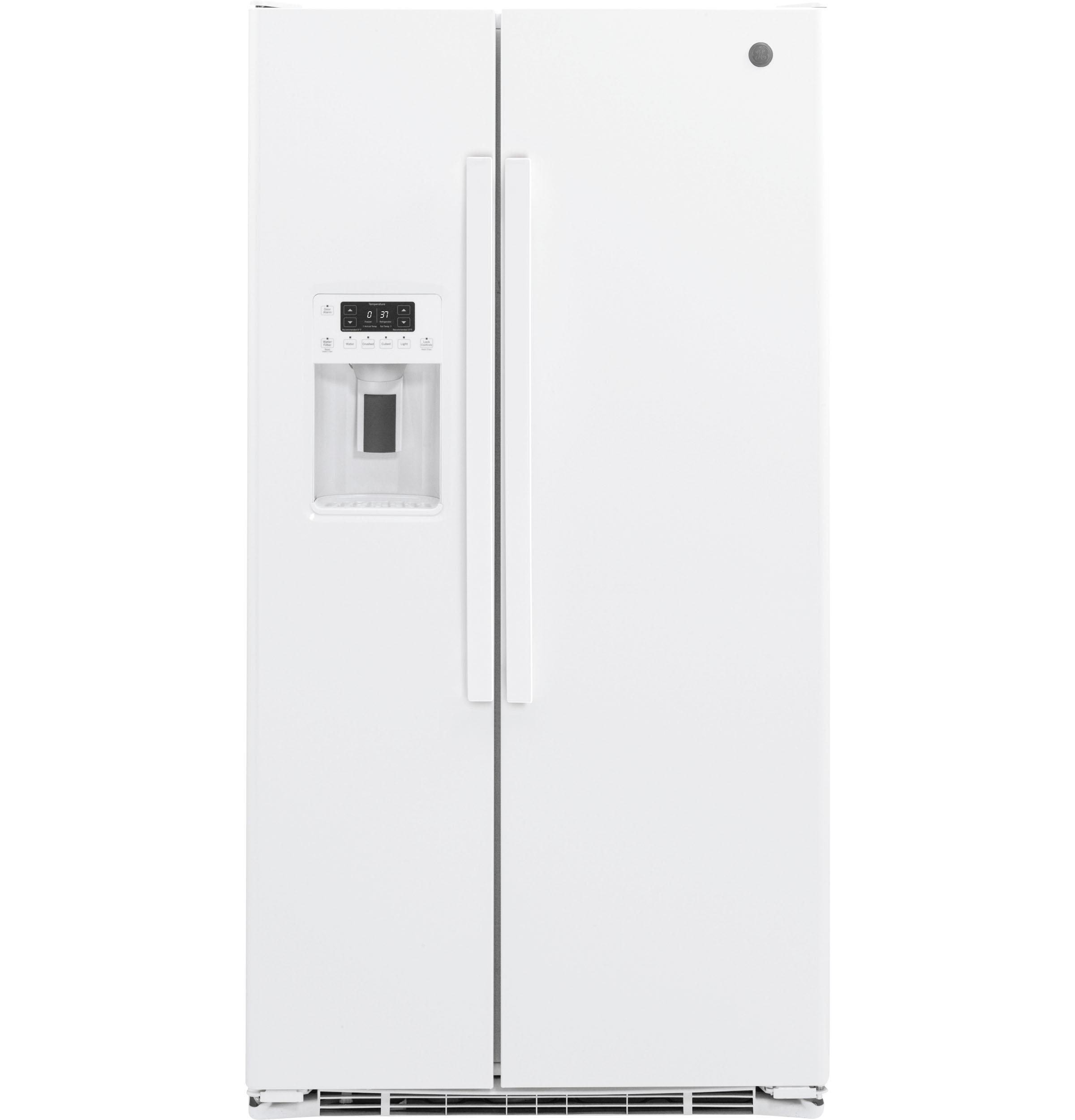 GE®21.9 Cu. Ft. Counter-Depth Side-By-Side Refrigerator