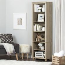 Narrow 6-Shelf Bookcase - Rustic Oak