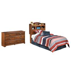 Twin Bookcase Headboard With Dresser