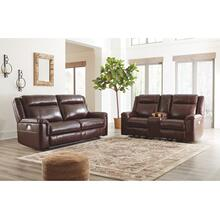 Wyline Power Reclining Sofa & Console Loveseat with Adjustable Headrest Coffee