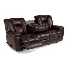 Product Image - La Crosse Fabric Gliding Reclining Sofa